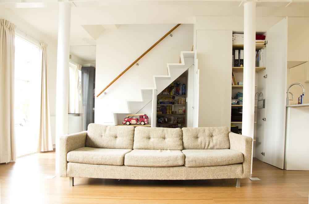 Open trap in woonkamer home design idee n en meubilair inspiraties - Woonkamer met trap ...